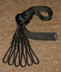 Six Black Lanyards - Fender Ropes (10mm x 2 metre)
